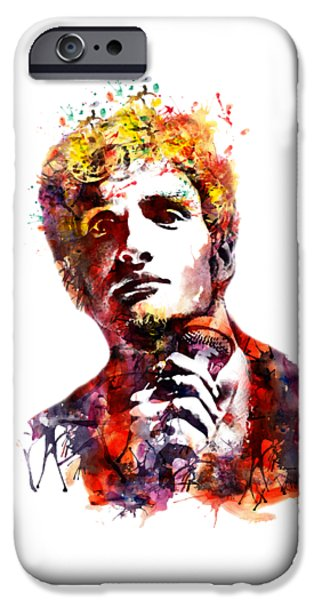 Marian iPhone Cases - Layne Staley watercolor iPhone Case by Marian Voicu