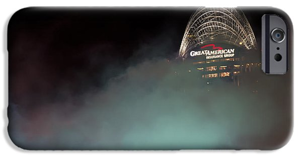 Allstar iPhone Cases - Laser light smoke and Great American iPhone Case by Randall Branham