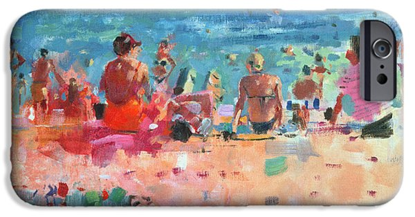 On The Beach iPhone Cases - Lazy Sunny Afternoon iPhone Case by Peter Graham