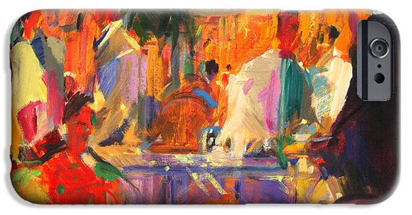 Waiter Paintings iPhone Cases - Le Bristol  Paris iPhone Case by Peter Graham