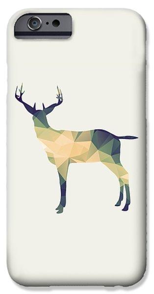 Deer Digital iPhone Cases - Le cerf iPhone Case by Taylan Soyturk