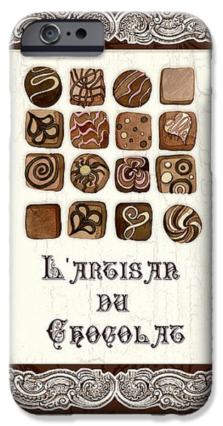 Hand-made iPhone Cases - Le Chocolatier - L Artisan du Chocolat iPhone Case by Audrey Jeanne Roberts