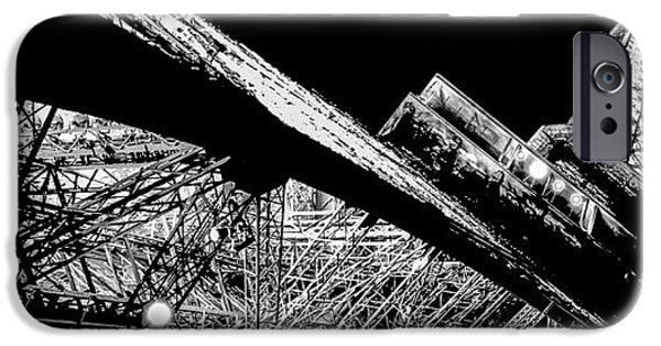 Panoramic Pyrography iPhone Cases - Le dame de Paris in Panoramic view. iPhone Case by Cyril Jayant