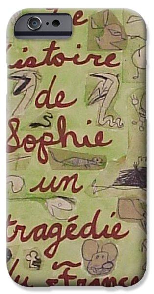 Destruction Of The Child iPhone Cases - Le histoire de Sophie un tragedie du France iPhone Case by William Douglas