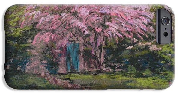 Culture Pastels iPhone Cases - Le Maison de Monet iPhone Case by Mary Benke
