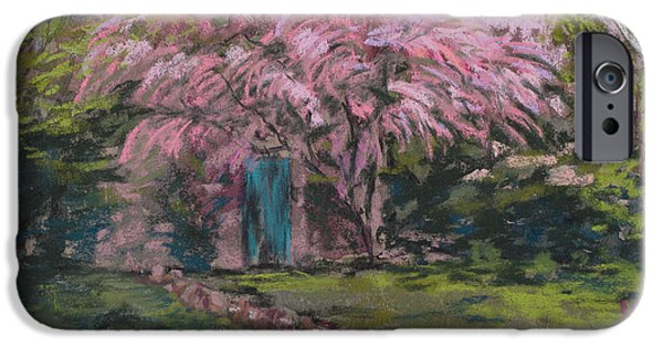 Village Pastels iPhone Cases - Le Maison de Monet iPhone Case by Mary Benke