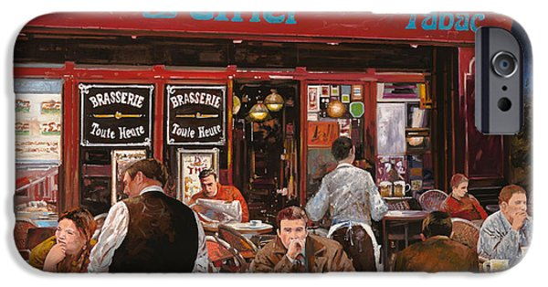 Waiter Paintings iPhone Cases - Le mani in bocca iPhone Case by Guido Borelli