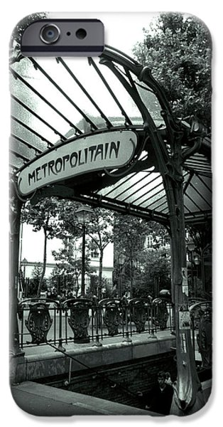 Le Metro as Art iPhone Case by Kathy Yates