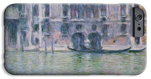 Facade iPhone Cases - Le Palais da Mula iPhone Case by Claude Monet