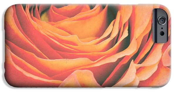 Roses iPhone Cases - Le petale de rose iPhone Case by Angela Doelling AD DESIGN Photo and PhotoArt