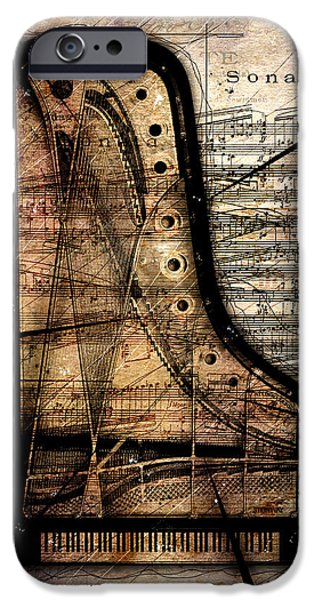 Piano iPhone Cases - Le Pianoforte Variation II iPhone Case by Gary Bodnar