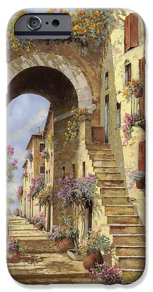 le scale e un arco iPhone Case by Guido Borelli