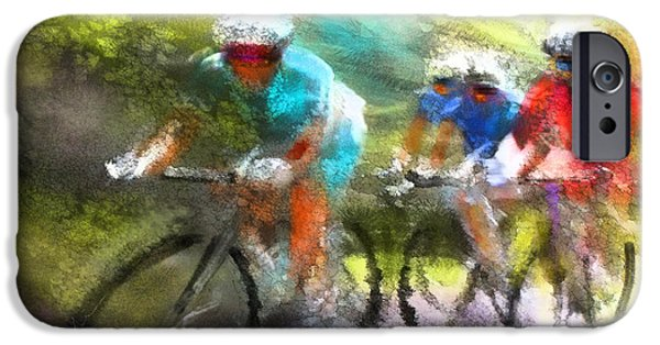 Velo iPhone Cases - Le Tour de France 11 iPhone Case by Miki De Goodaboom