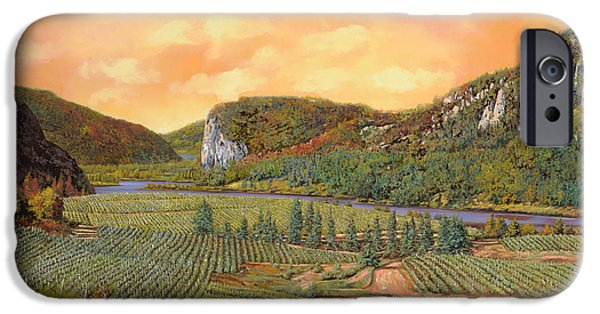 Vineyard Landscape iPhone Cases - Le Vigne Nel 2010 iPhone Case by Guido Borelli