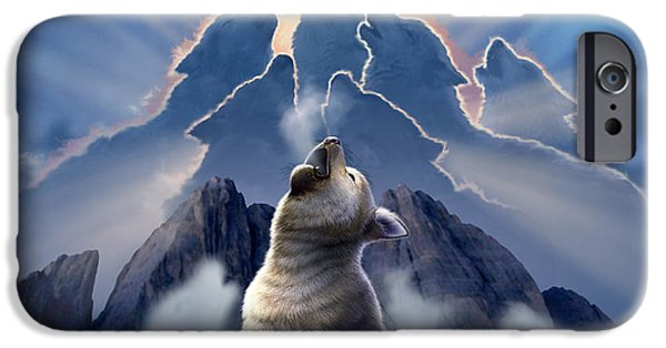 Canine Digital iPhone Cases - Leader of the Pack iPhone Case by Jerry LoFaro