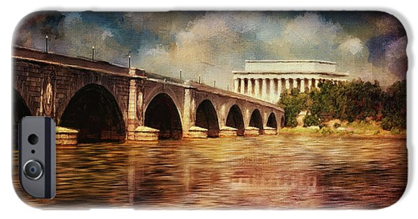 Reflections In River iPhone Cases - Leading To Lincoln iPhone Case by Lois Bryan
