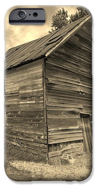 Old Barns iPhone Cases - Leaning Barn iPhone Case by Paul Hale