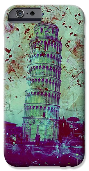 Sheets iPhone Cases - Leaning Tower of Pisa 27 iPhone Case by Marina McLain