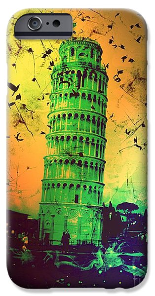 Sheets iPhone Cases - Leaning Tower of Pisa 32 iPhone Case by Marina McLain