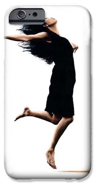 Best Sellers -  - Ballet Dancers iPhone Cases - Leap into the Unknown iPhone Case by Richard Young