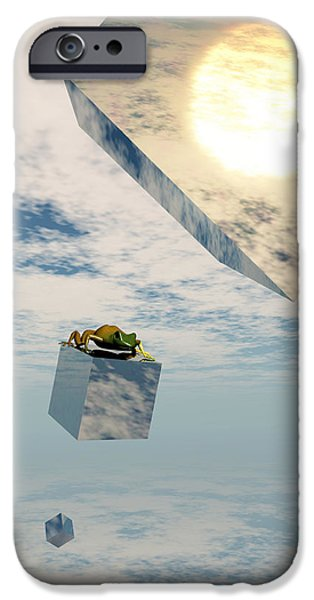 Surrealism Digital iPhone Cases - Leaps and Bounds iPhone Case by Richard Rizzo
