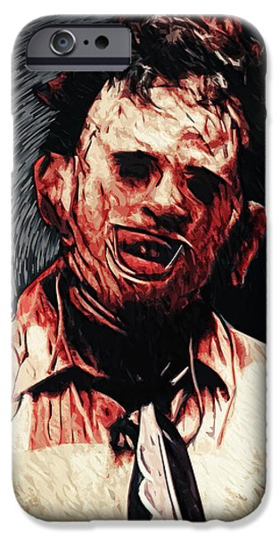 Recently Sold -  - Creepy iPhone Cases - Leatherface iPhone Case by Taylan Soyturk