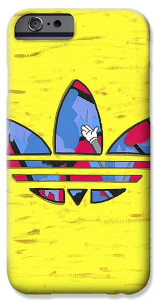 Nike Paintings iPhone Cases - Leaves iPhone Case by Smail Smriko