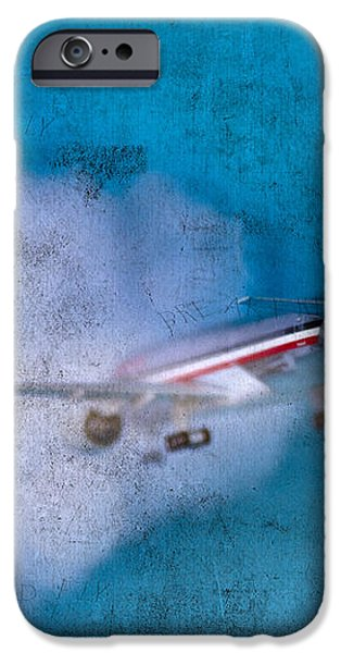 Leavin' On A Jet Plane iPhone Case by Rebecca Cozart