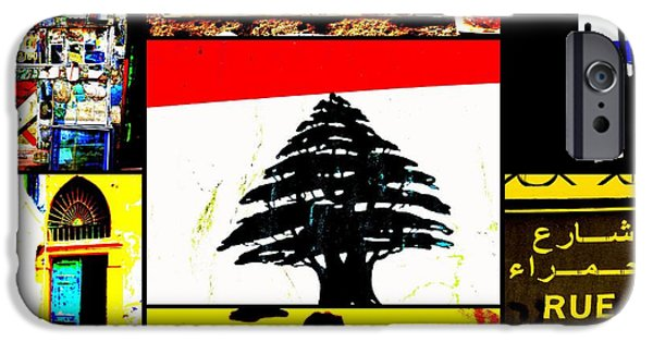 Abstract Digital Photographs iPhone Cases - Lebanon famous icons iPhone Case by Funkpix Photo Hunter