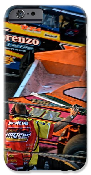 Racing iPhone Cases - Lebanon Valley Speedway iPhone Case by John Houseman