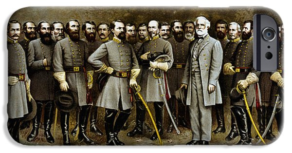 Stonewall Paintings iPhone Cases - Robert E. Lee and His Generals iPhone Case by War Is Hell Store