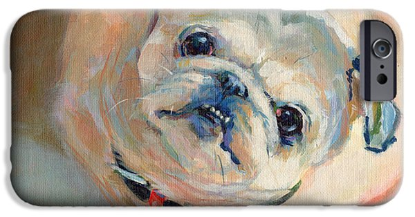 Fawn iPhone Cases - LeeLoos New Collar iPhone Case by Kimberly Santini
