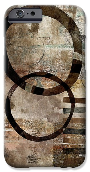 Enso iPhone Cases - Left of Eight  iPhone Case by Carol Leigh