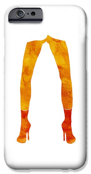 Model Drawings iPhone Cases - Legs of a fashion model iPhone Case by Frank Tschakert