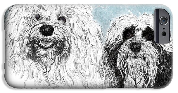Graphite Drawing Pastels iPhone Cases - Leila Bohdi iPhone Case by Myke  Irving