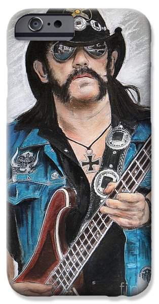 Bassist iPhone Cases - Lemmy iPhone Case by Melanie D