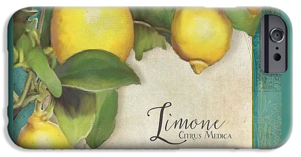 Lemon iPhone Cases - Lemon Tree - Limone Citrus Medica iPhone Case by Audrey Jeanne Roberts