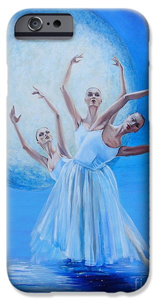 Ballet Dancers iPhone Cases - Lumaria iPhone Case by Diane Rose Medlin