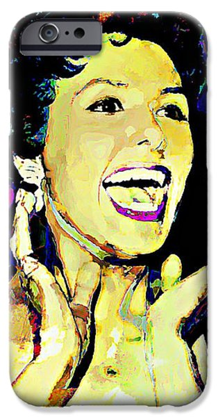 Ev-in iPhone Cases - Lena Horne iPhone Case by Lynda Payton