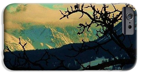 Switzerland Tapestries - Textiles iPhone Cases - Lenzerheide Acqua iPhone Case by Nila  Poduschco