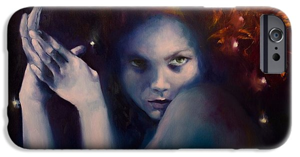 Constellation Paintings iPhone Cases - Leo from Zodiac Signs iPhone Case by Dorina  Costras