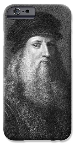 Painter Photographs iPhone Cases - Leonardo Da Vinci (1452-1519) iPhone Case by Granger