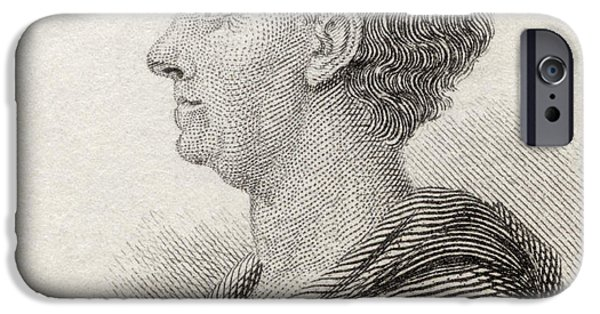 Swiss Drawings iPhone Cases - Leonhard Euler, 1707 To 1783. Swiss iPhone Case by Ken Welsh