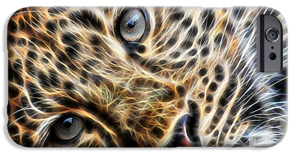 Cat iPhone Cases - Leopard iPhone Case by Marvin Blaine