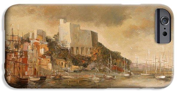 Buildings iPhone Cases - Lerici castle iPhone Case by Vali Irina Ciobanu