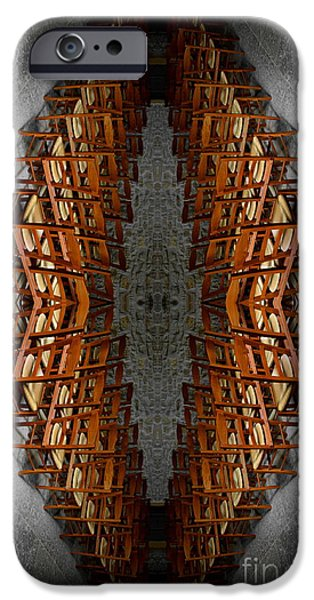 Oingt iPhone Cases - Les chaises vides - Empty chairs iPhone Case by Lange Stephane