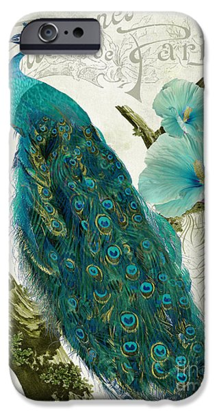 Sign iPhone Cases - Les Paons iPhone Case by Mindy Sommers