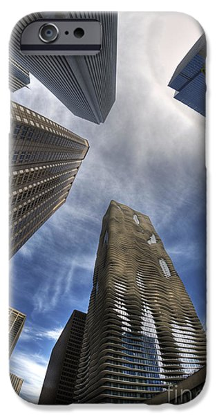 Aqua Condominiums Photographs iPhone Cases - Less is more or more is less iPhone Case by David Bearden