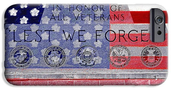 Not In Service iPhone Cases - Lest We Forget with Flag Graphic iPhone Case by Steve Ohlsen
