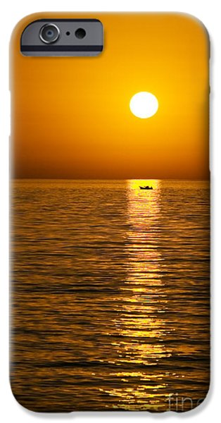 Drama iPhone Cases - Lesvos Sunset iPhone Case by Meirion Matthias